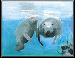 Student artist's design celebrates 20 years of manatee decals